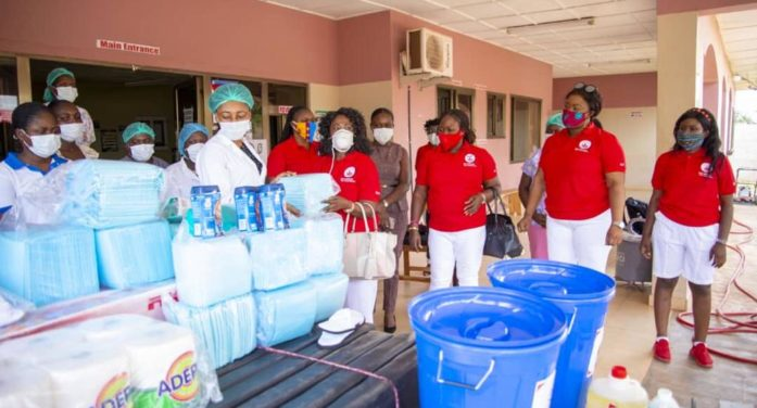 Elite Ladies Club USA   fulfills a yearlong commitment to the Nwamasi Community Clinic in the Ashanti Region of Ghana