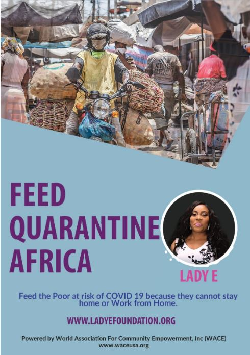 Lady E Initiates Feed the Quarantined Project through World Association for Community Empowerment(WACE)